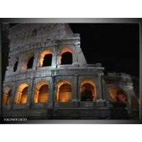 Glas schilderij Rome | Geel, Grijs, Zwart