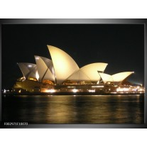 Glas schilderij Sydney | Wit, Zwart, Grijs
