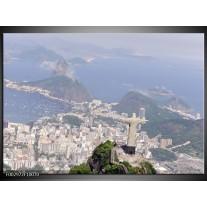 Foto canvas schilderij Brazilie   Grijs, Blauw, Wit