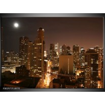 Foto canvas schilderij New York | Bruin, Wit