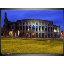Glas schilderij Rome | Blauw, Grijs, Groen