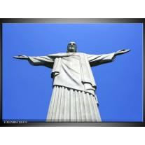 Glas schilderij Brazilie | Blauw, Grijs