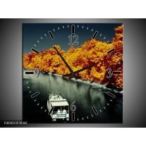 Wandklok op Canvas Boot | Kleur: Bruin, Zwart, Grijs | F003013C