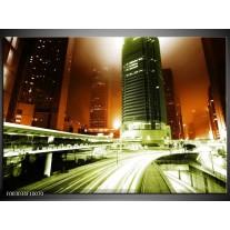 Glas schilderij Nacht | Groen, Bruin