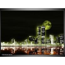 Glas schilderij Nacht | Groen, Bruin, Zwart