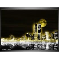 Glas schilderij Nacht | Geel, Zwart, Grijs