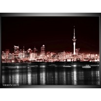 Foto canvas schilderij Steden | Rood, Zwart, Grijs