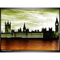 Glas schilderij Londen | Bruin, Groen