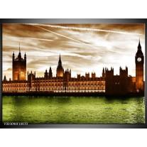 Glas schilderij Londen | Groen, Bruin, Wit