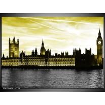 Glas schilderij Londen | Groen, Goud, Zwart