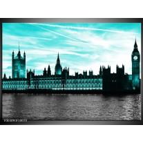 Glas schilderij Londen | Groen, Zwart