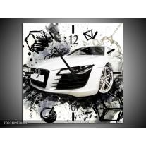 Wandklok op Canvas Audi | Kleur: Wit, Zwart, Grijs | F003109C
