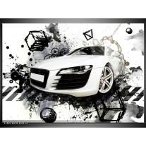Glas schilderij Audi | Wit, Zwart, Grijs