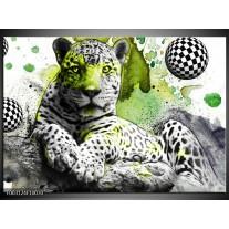 Glas schilderij Natuur | Groen, Zwart, Wit