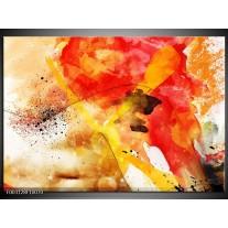 Foto canvas schilderij Abstract   Rood, Geel, Wit