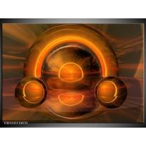Glas schilderij Abstract | Oranje, Bruin, Geel