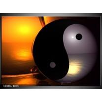 Foto canvas schilderij Abstract   Zwart, Wit, Goud