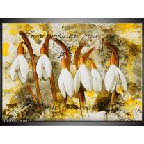 Foto canvas schilderij Bloem   Wit, Bruin, Geel