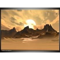 Glas schilderij Natuur | Wit, Bruin, Grijs