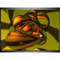 Glas schilderij Abstract | Groen, Geel, Goud
