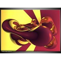 Glas schilderij Abstract   Paars, Geel