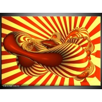 Glas schilderij Abstract | Geel, Rood