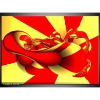 Glas schilderij Abstract   Geel, Rood