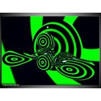 Foto canvas schilderij Abstract | Groen, Zwart