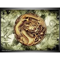 Foto canvas schilderij Abstract   Groen, Bruin