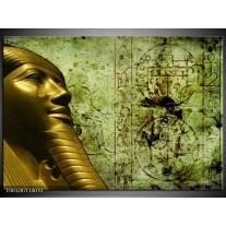Foto canvas schilderij Egypte | Groen, Goud, Grijs