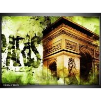 Foto canvas schilderij Parijs | Bruin, Groen, Wit