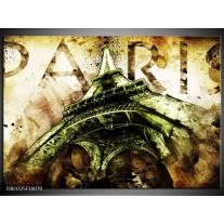 Foto canvas schilderij Eiffeltoren   Groen, Bruin