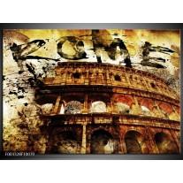 Glas schilderij Rome | Bruin, Grijs, Zwart