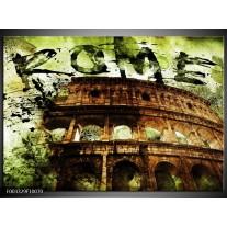 Foto canvas schilderij Rome | Groen, Bruin, Zwart