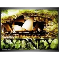 Foto canvas schilderij Sydney | Groen, Bruin, Zwart