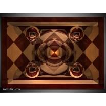 Foto canvas schilderij Abstract   Bruin, Geel