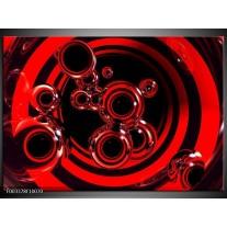 Glas schilderij Abstract | Rood, Zwart