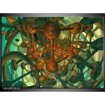 Foto canvas schilderij Abstract | Groen, Bruin
