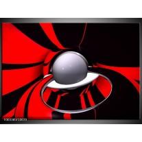 Glas schilderij Abstract | Rood, Zwart, Grijs