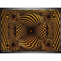 Foto canvas schilderij Abstract | Geel, Zwart