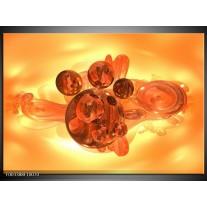 Glas schilderij Abstract | Geel, Goud, Zwart