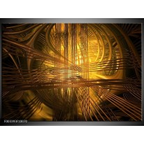 Foto canvas schilderij Abstract | Bruin, Goud