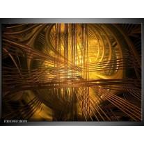 Glas schilderij Abstract   Bruin, Goud