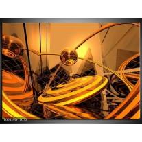 Glas schilderij Abstract | Bruin, Goud, Geel