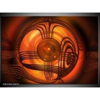 Glas schilderij Abstract | Rood, Bruin, Geel