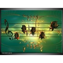 Glas schilderij Muziek | Blauw, Zwart, Geel