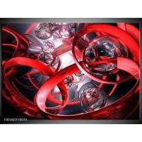 Foto canvas schilderij Abstract   Rood, Zwart, Wit