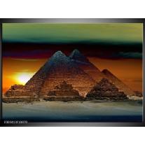 Foto canvas schilderij Egypte | Bruin, Zwart, Geel