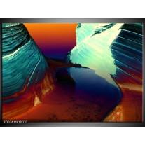 Foto canvas schilderij Natuur | Geel, Blauw, Rood