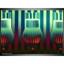 Foto canvas schilderij Glas | Groen, Rood, Blauw